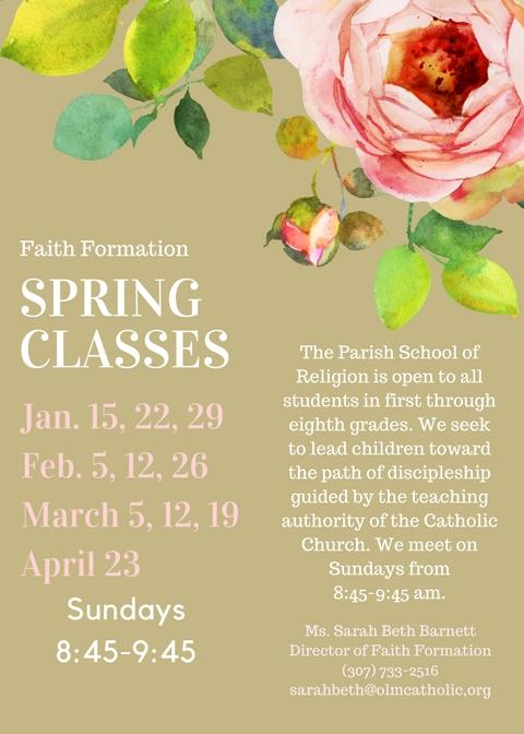 Spring classes 2017